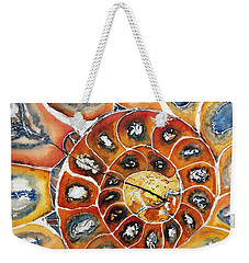 Ammonite Fossil Shell Weekender Tote Bag