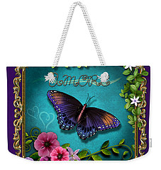 Amore - Butterfly Version Weekender Tote Bag