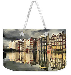 Amsterdam Cloudy Grey Day Weekender Tote Bag
