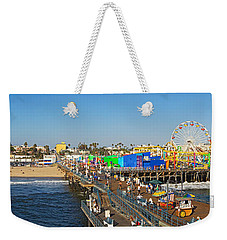 Amusement Park, Santa Monica Pier Weekender Tote Bag