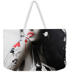 Amy Winehouse - ' Amy ' Weekender Tote Bag by Christian Chapman Art