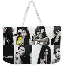 Amy Winehouse - ' Amy Eternal ' Weekender Tote Bag by Christian Chapman Art