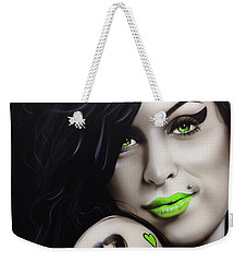 Amy Winehouse - ' Amy Jade ' Weekender Tote Bag by Christian Chapman Art