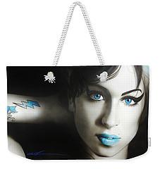 Amy Winehouse - ' Amy 'n' Blues ' Weekender Tote Bag by Christian Chapman Art