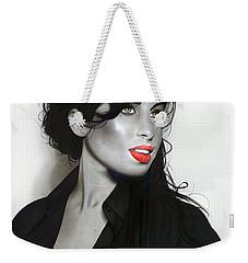' Amy Winehouse ' Weekender Tote Bag by Christian Chapman Art