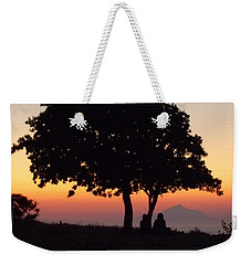 Weekender Tote Bag featuring the photograph An African Sunset by Vicki Spindler