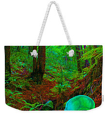 An Alien In A Cosmic Forest Of Time Weekender Tote Bag