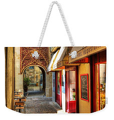 Weekender Tote Bag featuring the photograph An Alley In Avignon by Mel Steinhauer