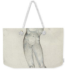 An Angel With A Trumpet Weekender Tote Bag by William Blake