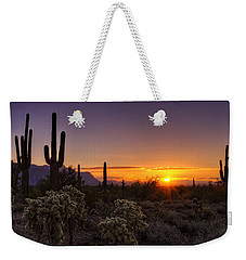 An Arizona Winter Sunrise Weekender Tote Bag