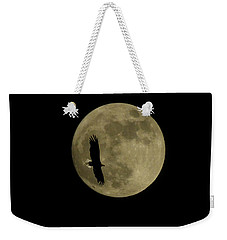 An Eagle And The Moon Weekender Tote Bag by Mark Alan Perry