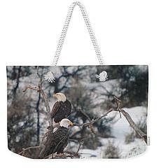 An Eagle Pair  Weekender Tote Bag