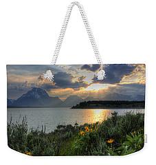 An Evening At Jackson Lake Weekender Tote Bag