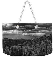 An Incoming Storm Over The Black Hills Of South Dakota Weekender Tote Bag