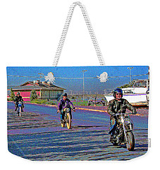 An October 2013 Motor Bike Rally Weekender Tote Bag