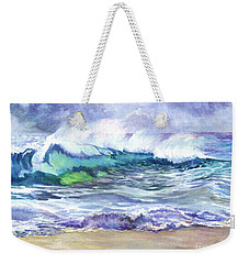 Weekender Tote Bag featuring the painting An Ode To The Sea by Carol Wisniewski