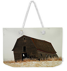 An Old Leaning Barn In North Dakota Weekender Tote Bag