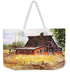 An Old Red Barn Weekender Tote Bag