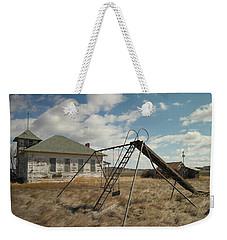 An Old School Near Miles City Montana Weekender Tote Bag by Jeff Swan