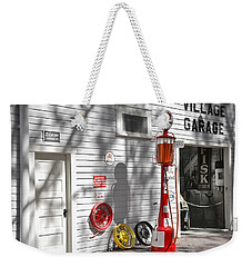 An Old Village Gas Station Weekender Tote Bag by Mal Bray
