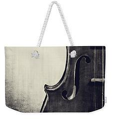 An Old Violin In Black And White Weekender Tote Bag