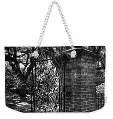 An Open Gate 2 Bw Weekender Tote Bag