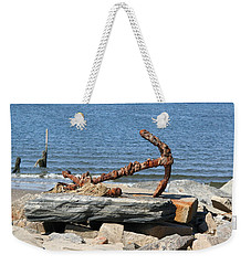 Weekender Tote Bag featuring the photograph Anchor by Karen Silvestri