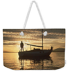 Weekender Tote Bag featuring the photograph Anchored by Mark Alan Perry