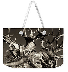 Ancient Bristlecone Pine In Black And White Weekender Tote Bag