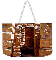 Weekender Tote Bag featuring the photograph Ancient Doorways by Alan Socolik