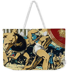 Ancient Olympic Games  The Relay Race Weekender Tote Bag by Unknown