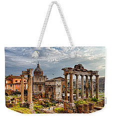 Ancient Roman Forum Ruins - Impressions Of Rome Weekender Tote Bag