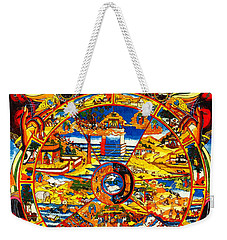 Ancient Tibetan Tangka Wheel Of Life Weekender Tote Bag