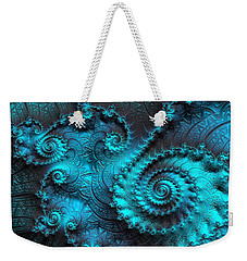 Ancient Verdigris -- Triptych 2 Of 3 Weekender Tote Bag by Susan Maxwell Schmidt