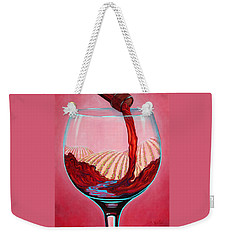 Weekender Tote Bag featuring the painting ...and Let There Be Wine by Sandi Whetzel
