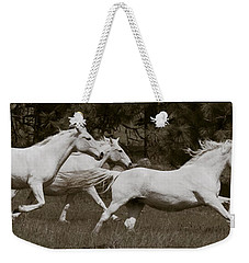 And The Race Is On Weekender Tote Bag by Wes and Dotty Weber