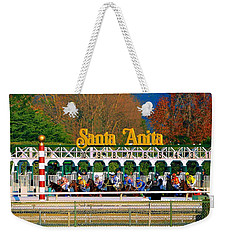 And They're Off At Santa Anita Weekender Tote Bag