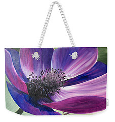 Anemone Coronaria Weekender Tote Bag by Claudia Goodell