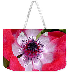 Anemone De Caen Weekender Tote Bag by Rona Black