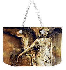 Angel Art - Surreal Gothic Angel Art Photography Dark Sepia Golden Impressionistic Angel Art Weekender Tote Bag