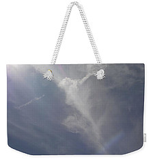 Angel Holding Light Weekender Tote Bag