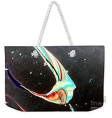 Weekender Tote Bag featuring the painting Angel by Jacqueline McReynolds