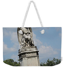 Weekender Tote Bag featuring the photograph Angel Made From Stone by Aaron Martens