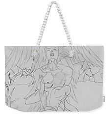 Angel Of God Struggle Weekender Tote Bag by Roberta Byram