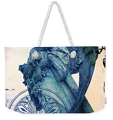 Weekender Tote Bag featuring the digital art Angel Of Peace - Art Nouveau by Absinthe Art By Michelle LeAnn Scott