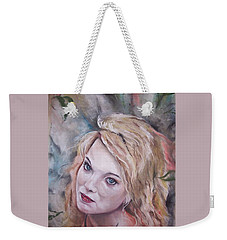 Weekender Tote Bag featuring the pastel Angel by Peter Suhocke