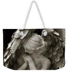 Angel Photography - Dreamy Spiritual Angel Art - Guardian Angel Art In Prayer  Weekender Tote Bag by Kathy Fornal