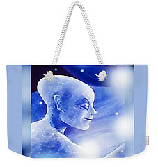 Weekender Tote Bag featuring the painting Angel Portrait by Hartmut Jager