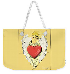 Angel Red Heart Weekender Tote Bag