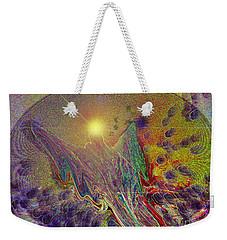 Weekender Tote Bag featuring the digital art Angel Taking Flight by Alison Caltrider